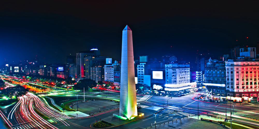 Buenos Aires night time,Argentina,Latin America,South America