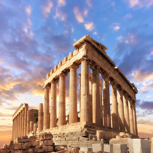 Greece - Gaze at the Astounding Acropolis as the sun sets in Greece