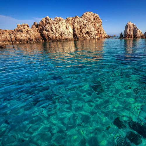 Greece - Antiparos: the azure Aegean and funky limestone caves
