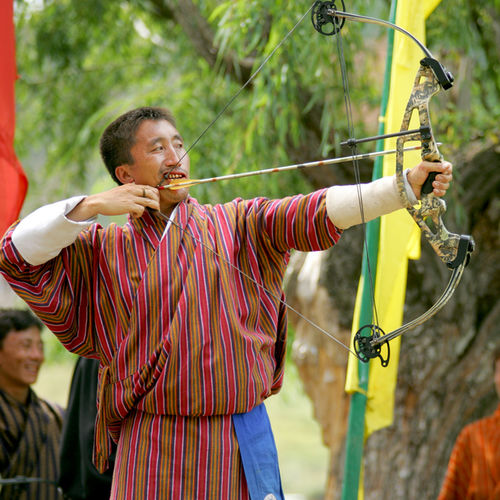 Bhutan - Practice your Archery skills in Paro