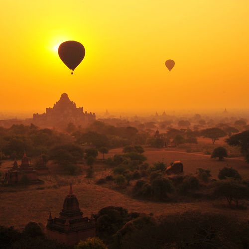 Myanmar - Enjoy Stunning Views Of The Ancient Temples Of Bagan from a Hot Air Balloon