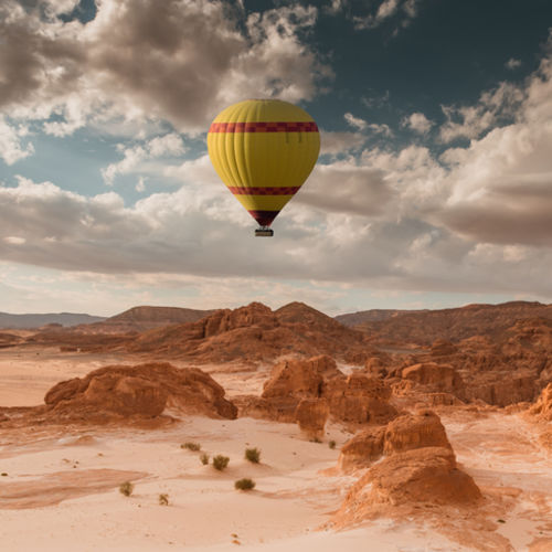 Hot air balloon Morocco Atlas Mountains