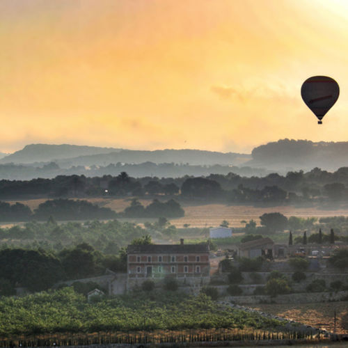 Spain - Ride a hot air balloon over the vineyards of medieval ribera del duero