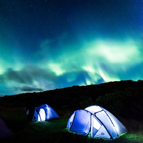 Iceland - Look for the Northern Lights in camper-van luxury