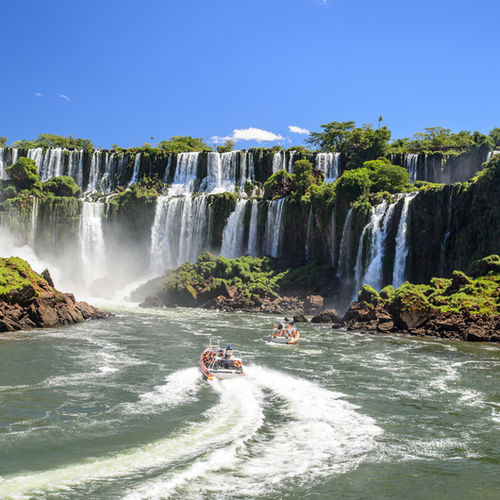 Brazil - A Boat ride under the Iguazu Falls