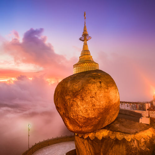 Myanmar - Kyaiktiyo Zedi: A Boulder Held in Place by a Miracle