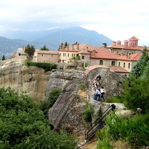 Greece - Meteora: Six monasteries on top of several rock pillars