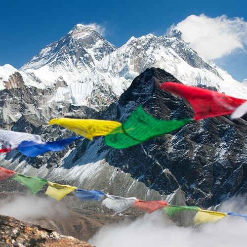 Tibet - Everest - the foothills of the world's mightiest peak