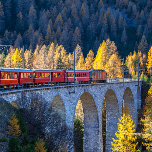 Switzerland, Glacier Express, Iconic Train Ride, Rhine Gorge, Zermatt, St. Moritz