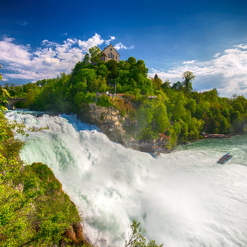 Switzerland, Rhine Falls, Rhinefell, The Rock, Europe's Largest Waterfall